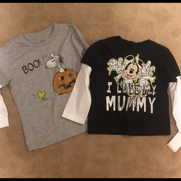 d8906349a Peanuts Shirts & Tops | New Lot Of Halloween Snoopy Shirt Mickey ...
